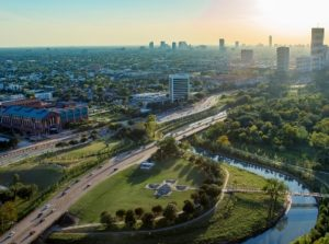 Picture of Houston Skyline with roadways
