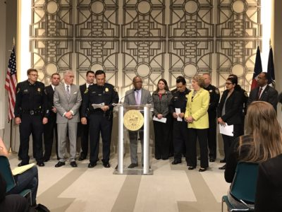 Mayor Sylvester Turner and Public Safety Agencies Joined forces to talk about how the Houston region is combatting Human Trafficking. (Photo: Michael Walter/City of Houston)